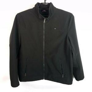 Mens Tommy Hilfiger Soft Shell Jacket SZ L Black